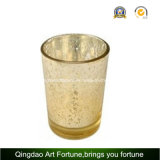 Tumbler de vidro Candle Holder com Painting Frosted Design