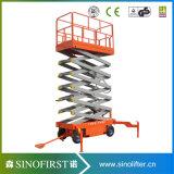 6m-12m Mobile Semi-Electric Mobile Platform Scissor Lift