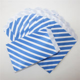 Eco-Friendly Striped мешки обслуживания голубой бумаги для партии