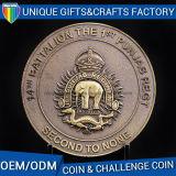 Moneta personalizzata di sfida del metallo con l'incisione di marchio del cliente 3D