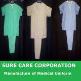 Robe chirurgicale d'hôpital d'isolement non-tissé jetable médical de chirurgien (SC-SG001)