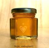 1.5 Oz ontruimen Hexagon Kruiken van het Glas (het Gouden Handvat GLB van het Metaal)