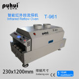 Forno do Reflow do ar quente com seis zona de aquecimento Puhui T-961, máquina de solda do PWB