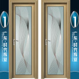 Самомоднейший тип алюминиевое Swingdoors с картиной цветка зеркала