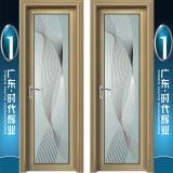 Moderne Art AluminiumSwingdoors mit Spiegel-Blumen-Muster