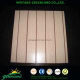 La madera contrachapada Grooved con el papel sobrepuso