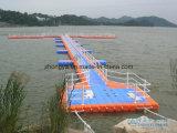 Muelle flotante el pontón del módulo