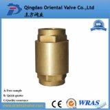 Válvula de verificación de cobre amarillo del resorte de la alta calidad Dn15-Dn100 con la base de cobre amarillo
