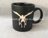 la tazza nera 20oz con il laser ha inciso il marchio, tazza di ceramica incisa laser