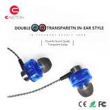 Fone de ouvido prendido metal dos sons estereofónicos com marcagem com ferro quente do OEM