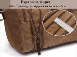 Un sacchetto di 8642 di alta qualità del cotone del Mens della tela di canapa del cuoio del Holdall di corsa del Duffle di fine settimana Totes di notte della cartella