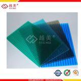 Dix ans de garantie de polycarbonate de cavité de toiture de Policarbonato de PC solide de prix ondulés de feuille