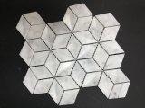 Mosaico de mármol que se enclavija del mosaico de Ilusion 3D