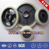 Kundenspezifische Plastiknylonriemenscheibe/Plastikrollen-Riemenscheibe (SWCPU-P-W070)