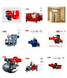 Mini mechero de gas en el pequeño equipo de calefacción de la caldera o del hogar