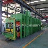 Gummiabnützung-Zwischenlage-Produkt-Vorlagenglas-hydraulische vulkanisierenpresse-Aushärtenpresse-Vulkanisator-Maschine mit PLC-Kontrollsystem