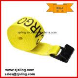 """4 """"x 40 'Yellow correas cabrestante con plano y gancho y Defensa"""