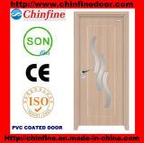 Porte enduite de vente chaude de PVC (CF-W041)