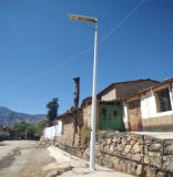 Luz de calle solar integrada antirrobo de 15W LED
