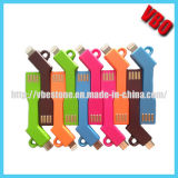 Новый кабель Keyring USB заряжателя Keychain прибытия для мобильного телефона