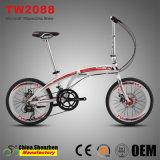 Bicicleta de dobramento gama alta da bicicleta da liga de alumínio de freio de disco de 20inch 16speed