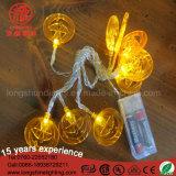 1m a pile 10 indicatori luminosi della stringa della zucca delle lampadine LED per le decorazioni di Halloween