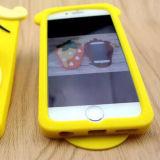Отрежьте тигра шаржа стереоскопического скача в случай iPhone 7 iPhone 7 добавочный (XSDW-086)