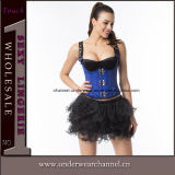 Corsé de cuero de Bustiers Steampunk de la ropa interior de las mujeres atractivas del látex para la venta al por mayor (TA21651)