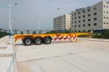40 pieds de 3axles de pneu simple de conteneur de remorque squelettique semi