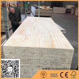 Pino lleno Blockboard con el pegamento E1 para los muebles