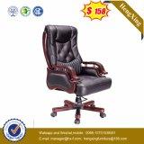 나무로 되는 조정가능한 두목 의자 가죽 행정실 의자 (HX-CR041)