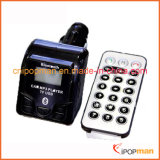 Jogo do carregador do telefone com o jogador de MP3 do carro no transmissor do carro FM