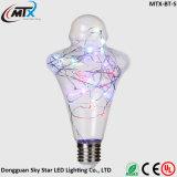 la chaîne de caractères extérieure de DEL allume l'ampoule chaude blanche du blanc DEL Edison des lumières SAA A19 2W E27 de chaîne de caractères