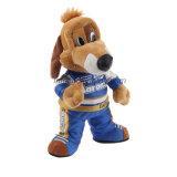 スーツの競争の顧客用涼しいプラシ天の漫画犬のおもちゃのぬいぐるみ