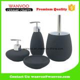 Accesorios de cerámica negros del cuarto de baño con el dispensador de la loción de la bomba de la loción 2 en pintar (con vaporizador) esmaltado
