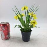Flores artificiais da decoração moderna do casamento Potted