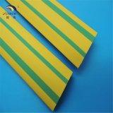 Manicotto dell'indicatore di Indentify del cavo e della fune dello Shrink di calore di verde giallo