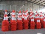 Pilão flexível do cone da estrada do PVC da segurança de tráfego