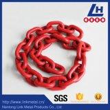 Catena a maglia rossa del rivestimento di plastica G80