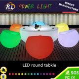 Wasserdichter Plastikkaffeetisch des Garten-LED beleuchteter runden Tisch-LED