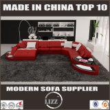 Sofà moderno dell'angolo del cuoio della mobilia del salone