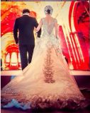 2017 платьев венчания 6832 сетчатого Beaded Mermaid шнурка Bridal