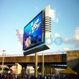 Pantalla de visualización a todo color al aire libre de LED P8 de la publicidad