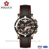 Deporte esquelético del reloj del ganador del silicón del Mens del reloj mecánico de lujo de la marca de fábrica