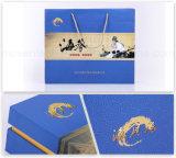 Rectángulos de regalo de encargo promocionales de sellado calientes del trazador de líneas de seda