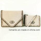 De Leverancier van Guangzhou de Geweven Handtassen van Dame Snake PU Kant Decoratie (nmdk-063001)