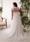 Chiffon Bridal Gowns Plus Size Vestido de casamento de praia Bt292