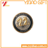 Cadeau de pièce de monnaie plaqué par laiton fait sur commande d'antiquité de logo (YB-HD-90)