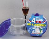 Le plastique rond emportent le conteneur de nourriture de Microwavable 31oz