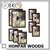Frame de madeira da foto do retrato de Brown da antiguidade feita sob encomenda do tamanho
